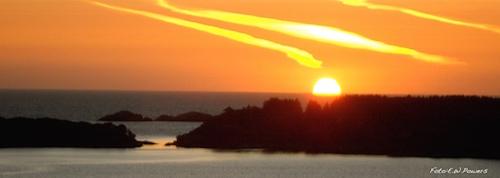 Solnedgang over Algerøy på Sotra2 kopi