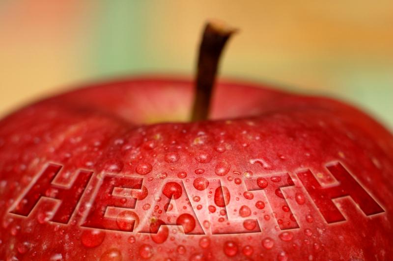 Rødt eple symbol på helse