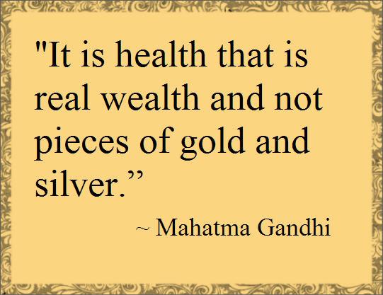 Sagt om helse av Mahatma Gandhi