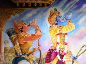Arjuna og Krishna