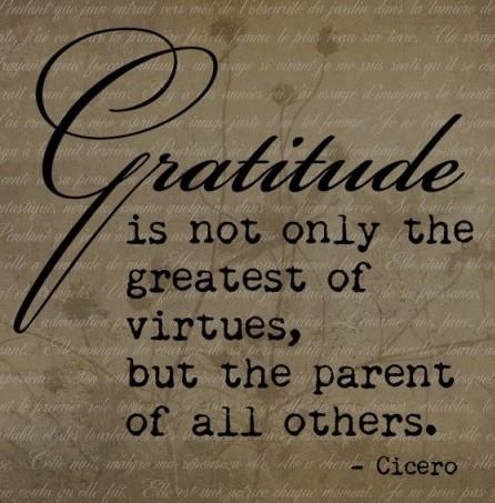 Takknemlighet er en utrolig viktig dyd!