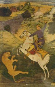 Emperor Babur Jakter på en Tiger