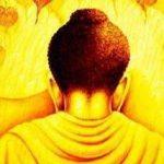 Den opplyste Buddha på fullmåne