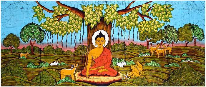 Buddha som mediterer.