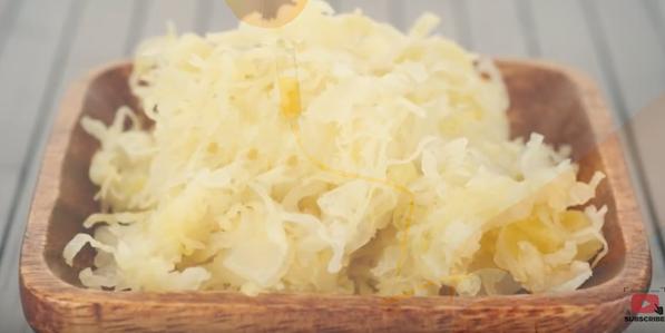 Sauerkraut inneholder massive mengder C vitaminer